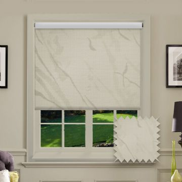 PVC Blackout Picasso Cream Roller Blind